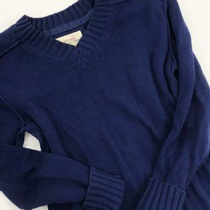 Natural Reflections Women's V-Neck Sweater Blue